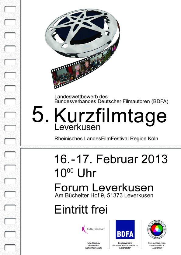 Plakat 5. Kurzfilmtage 2013